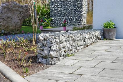 Drahtkörbe mit Steinen | Gabionen Versand