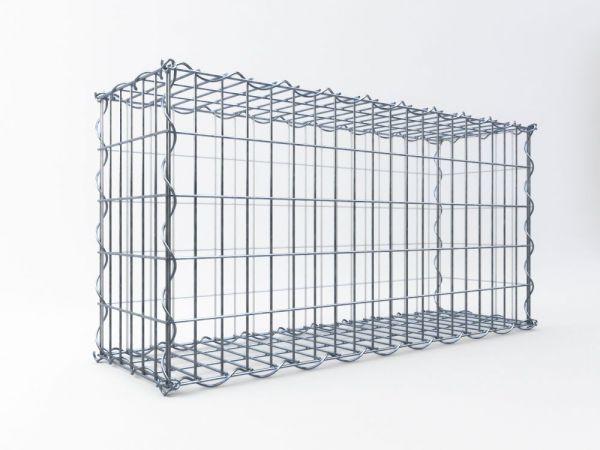 Schmale Gabionen, ALU-Zink, 150 x 100 x 30 cm
