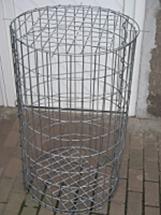Runde Gabione, Höhe 100 (in cm) Ø 100 (in cm) Maschenweite 5 x 10 cm Drahtstärke 4,5mm
