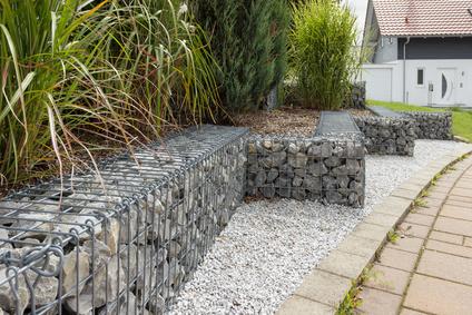 Gabionen Stützmauer