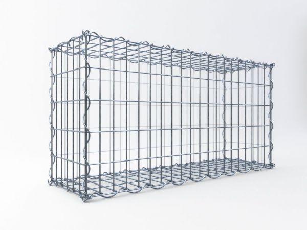 Schmale Gabionen, ALU-Zink, 50 x 50 x 30 cm, Maschenweite 5 x 10 cm (Sonderanfertigung)